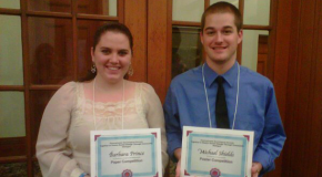 Seniors Barbara Prince, Michael Shields recognized with PSS awards