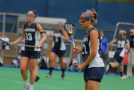 Women's lacrosse players step up against former teammates