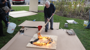 "Visiting artist Fuhrman ""plays with fire"""