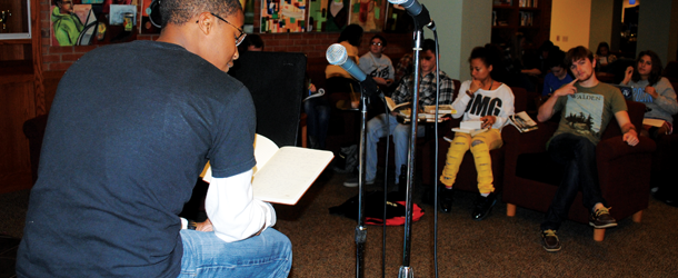 Slam Poetry event held in Blue Bean, all welcome to participate