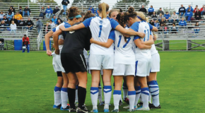 Women's soccer records 300th victory in program history