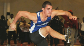 Dayhoff breaks weighted- throw record at meet
