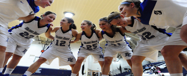 Women's basketball sits in tie for second place in conference after beating Widener