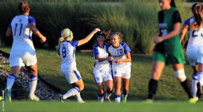 Women's soccer remains undefeated after victory over rival