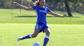 Women's soccer shuts out Juniata, 3-0 on Homecoming