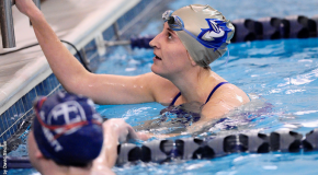 Four first-place finishes not enough to push women's swimming past York College (Pa.)