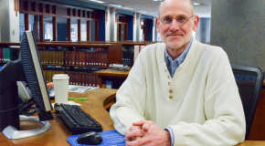 DePuydt retires after 25 years as reference librarian, archivist