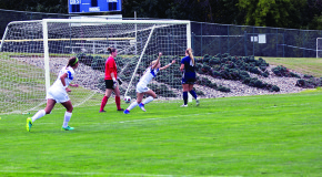 Women's soccer restarts season with Landmark opening win