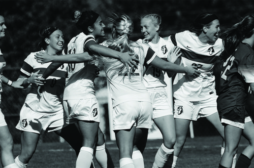 Late goal helps women's soccer bury Goucher Gophers on Homecoming
