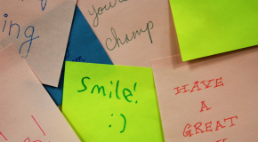 Day of Positivity event covers campus in thousands of inspiring sticky notes