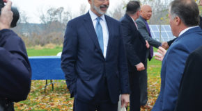 Governor visits Etown's solar field to announce new solar energy bill