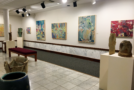 Art exhibit of collage paintings, ceramics opens for public viewing